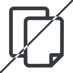 copy thin, line, down, horizontal, mirror, prohibited, copy, files free icon 256x256 256x256px