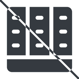 spreadsheet-solid thin, line, down, prohibited, cell, table, data, grid, row, columns, spreadsheet, spreadsheet-solid free icon 256x256 256x256px