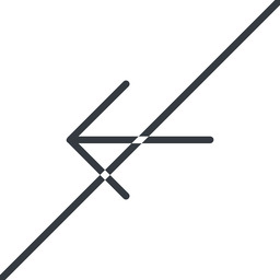 arrow-simple-thin thin, line, left, arrow, direction, prohibited, arrow-simple-thin free icon 256x256 256x256px