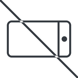 smartphone-thin thin, line, right, horizontal, mirror, prohibited, iphone, phone, mobile, android, gsm, smartphone, cell, smartphone-thin free icon 256x256 256x256px
