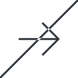 arrow-simple-thin thin, line, right, arrow, direction, prohibited, arrow-simple-thin free icon 256x256 256x256px