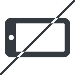 smartphone-solid thin, line, right, prohibited, iphone, phone, mobile, android, gsm, smartphone, cell, smartphone-solid free icon 256x256 256x256px
