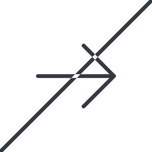 arrow-simple-thin thin, line, right, arrow, direction, prohibited, arrow-simple-thin free icon 512x512 512x512px