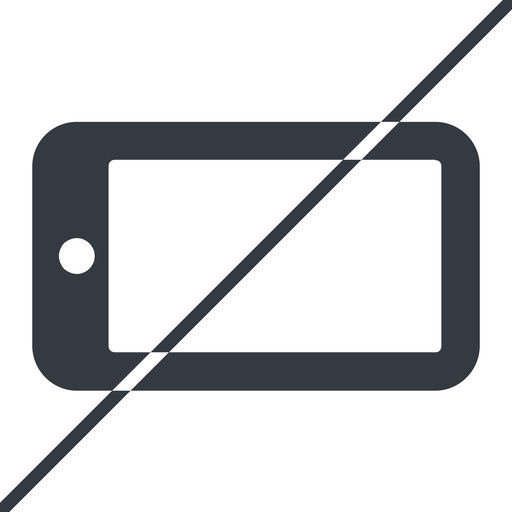 smartphone-solid thin, line, right, prohibited, iphone, phone, mobile, android, gsm, smartphone, cell, smartphone-solid free icon 512x512 512x512px
