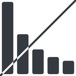 bar-chart-solid thin, line, up, horizontal, mirror, graph, chart, prohibited, statistics, antenna, mobile, signal, bars, level, strength, bar, bar-chart-solid free icon 256x256 256x256px