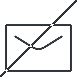 close-envelope-thin thin, line, horizontal, mirror, envelope, mail, message, email, prohibited, contact, close, unread, close-envelope, close-envelope-thin free icon 256x256 256x256px
