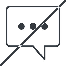 comment-square-dots-thin thin, line, square, horizontal, mirror, dots, message, prohibited, chat, comment, speech, dialogue, blablabla, blabla, bubbles, comment-square-dots-thin free icon 256x256 256x256px