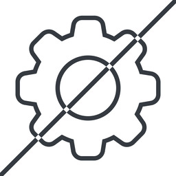 setting-thin thin, line, horizontal, mirror, setting, config, gear, wheel, settings, cog, prohibited, setting-thin free icon 256x256 256x256px