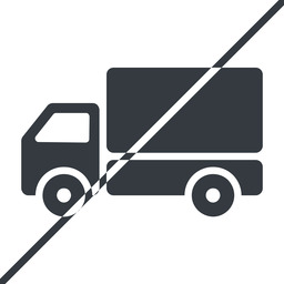 truck-solid thin, line, solid, horizontal, mirror, prohibited, truck, delivery, van, lorry, truck-solid free icon 256x256 256x256px