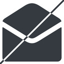 open-envelope-alt-solid thin, line, horizontal, mirror, envelope, mail, message, email, prohibited, contact, open, read, open-envelope, open-envelope-alt, open-envelope-alt-solid free icon 128x128 128x128px