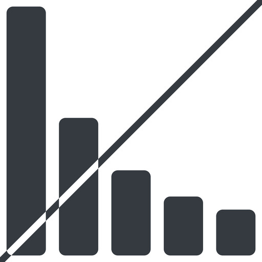 bar-chart-solid thin, line, up, horizontal, mirror, graph, chart, prohibited, statistics, antenna, mobile, signal, bars, level, strength, bar, bar-chart-solid free icon 512x512 512x512px