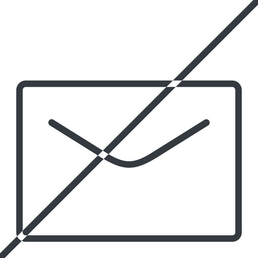 close-envelope-thin thin, line, horizontal, mirror, envelope, mail, message, email, prohibited, contact, close, unread, close-envelope, close-envelope-thin free icon 512x512 512x512px
