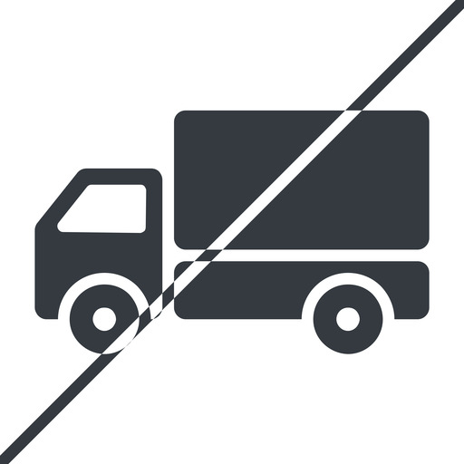 truck-solid thin, line, solid, horizontal, mirror, prohibited, truck, delivery, van, lorry, truck-solid free icon 512x512 512x512px