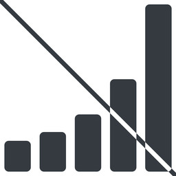 bar-chart-solid thin, line, up, graph, chart, prohibited, statistics, antenna, mobile, signal, bars, level, strength, bar, bar-chart-solid free icon 256x256 256x256px
