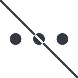 ellipsis thin, line, up, ellipsis, three, dots, prohibited, menu, collapse, ... free icon 256x256 256x256px