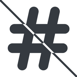 hashtag-solid thin, line, solid, social, prohibited, hashtag, hashtag-solid free icon 256x256 256x256px