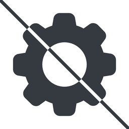 setting-solid thin, line, setting, config, gear, wheel, settings, cog, prohibited, setting-solid free icon 256x256 256x256px