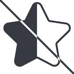 star-half-thin thin, line, up, star, rate, rating, prohibited, half, star-half-thin free icon 256x256 256x256px
