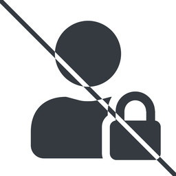 user-lock-solid thin, line, user, man, woman, person, prohibited, secure, safe, padlock, locked, lock, user-lock, user-lock-solid free icon 256x256 256x256px