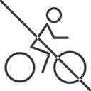 bicycle-thin thin, line, vehicle, prohibited, riding, bicycle, bike, cycle, cycling, bicycle-thin free icon 128x128 128x128px