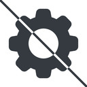 setting-solid thin, line, setting, config, gear, wheel, settings, cog, prohibited, setting-solid free icon 128x128 128x128px
