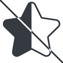 star-half-thin thin, line, up, star, rate, rating, prohibited, half, star-half-thin free icon 128x128 128x128px