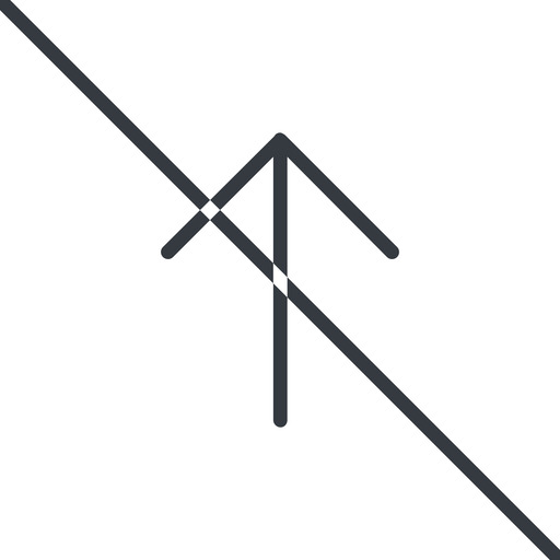 arrow-simple-thin thin, line, up, arrow, direction, prohibited, arrow-simple-thin free icon 512x512 512x512px