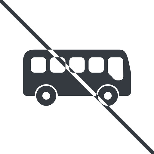 bus-side thin, line, wide, car, vehicle, transport, prohibited, bus, side, bus-side free icon 512x512 512x512px