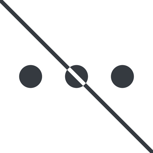 ellipsis thin, line, up, ellipsis, three, dots, prohibited, menu, collapse, ... free icon 512x512 512x512px