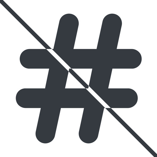 hashtag-solid thin, line, solid, social, prohibited, hashtag, hashtag-solid free icon 512x512 512x512px