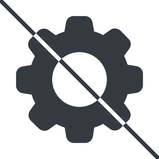 setting-solid thin, line, setting, config, gear, wheel, settings, cog, prohibited, setting-solid free icon 512x512 512x512px