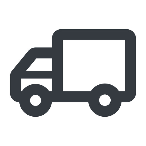 truck-wide line, wide, solid, horizontal, mirror, truck, delivery, van, lorry, truck-wide free icon 512x512 512x512px