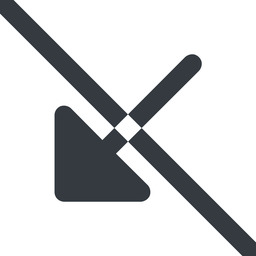 arrow-corner-solid line, down, wide, arrow, prohibited, corner, arrow-corner-solid free icon 256x256 256x256px