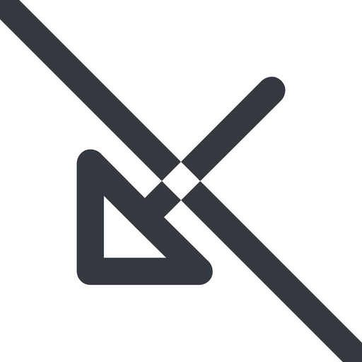 arrow-corner-wide line, down, wide, arrow, prohibited, corner, arrow-corner-wide free icon 512x512 512x512px