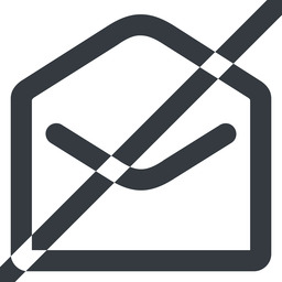 open-envelope-wide line, wide, horizontal, mirror, envelope, mail, message, email, prohibited, contact, open, read, open-envelope, open-envelope-wide free icon 256x256 256x256px