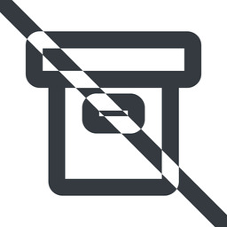archive-wide line, wide, prohibited, archive, back-up, archive-wide free icon 256x256 256x256px