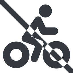 bicycle-solid line, wide, vehicle, prohibited, riding, bicycle, bike, cycle, cycling, bicycle-solid free icon 256x256 256x256px