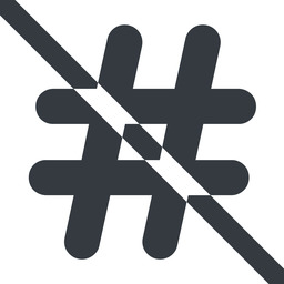 hashtag-solid line, wide, solid, social, prohibited, hashtag, hashtag-solid free icon 256x256 256x256px