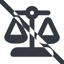 balance-wide line, wide, prohibited, law, balance, justice, legal, scales, balance-wide free icon 128x128 128x128px