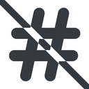 hashtag-solid line, wide, solid, social, prohibited, hashtag, hashtag-solid free icon 128x128 128x128px