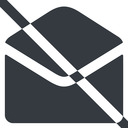 open-envelope-alt-solid line, wide, envelope, mail, message, email, prohibited, contact, open, read, open-envelope, open-envelope-alt, open-envelope-alt-solid free icon 128x128 128x128px