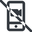 smartphone-video-wide line, up, wide, video, prohibited, phone, mobile, smartphone, call, smartphone-video, smartphone-video-wide free icon 128x128 128x128px