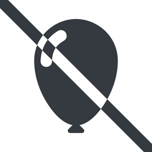 balloon-solid line, wide, solid, prohibited, balloon, party, birthday, carnival, helium, balloons, balloon-solid free icon 512x512 512x512px