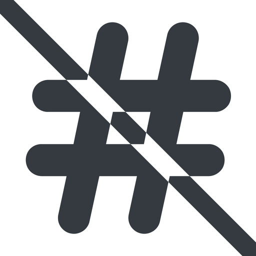 hashtag-solid line, wide, solid, social, prohibited, hashtag, hashtag-solid free icon 512x512 512x512px