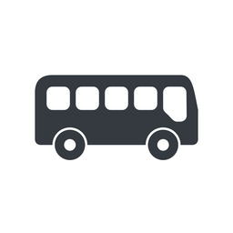bus-side wide, solid, car, vehicle, transport, bus, side, bus-side free icon 256x256 256x256px