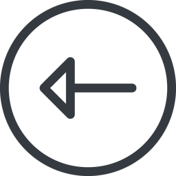 arrow line, left, normal, circle, arrow free icon 256x256 256x256px