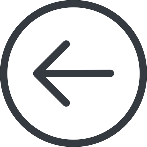 arrow-simple line, left, circle, arrow, direction, arrow-simple free icon 512x512 512x512px