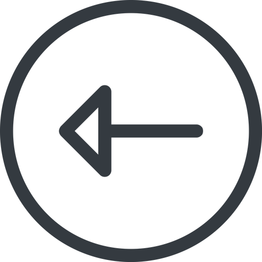 arrow line, left, normal, circle, arrow free icon 512x512 512x512px