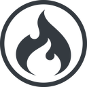 codeigniter line, normal, circle, logo, brand, icon, horizontal, mirror, codeigniter, igniter, code, php, framework, flame, fire free icon 128x128 128x128px