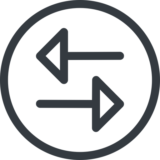 change line, up, normal, circle, horizontal, mirror, arrow, update, change, switch, select, revert, double, double-arrow free icon 512x512 512x512px